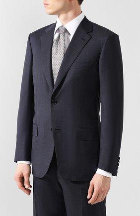 Мужской шерстяной костюм BRIONI синего цвета, арт. RAH00L/08A2V/PARLAMENT0 | Фото 2