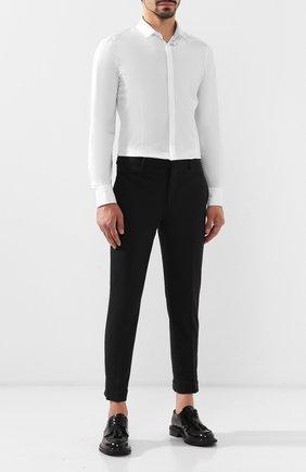 Мужской брюки NEIL BARRETT черного цвета, арт. PBPA488/M001 | Фото 2