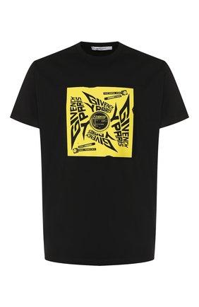 Хлопковая футболка Givenchy черная | Фото №1