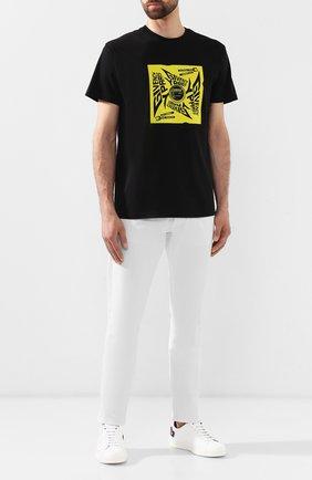 Хлопковая футболка Givenchy черная | Фото №2