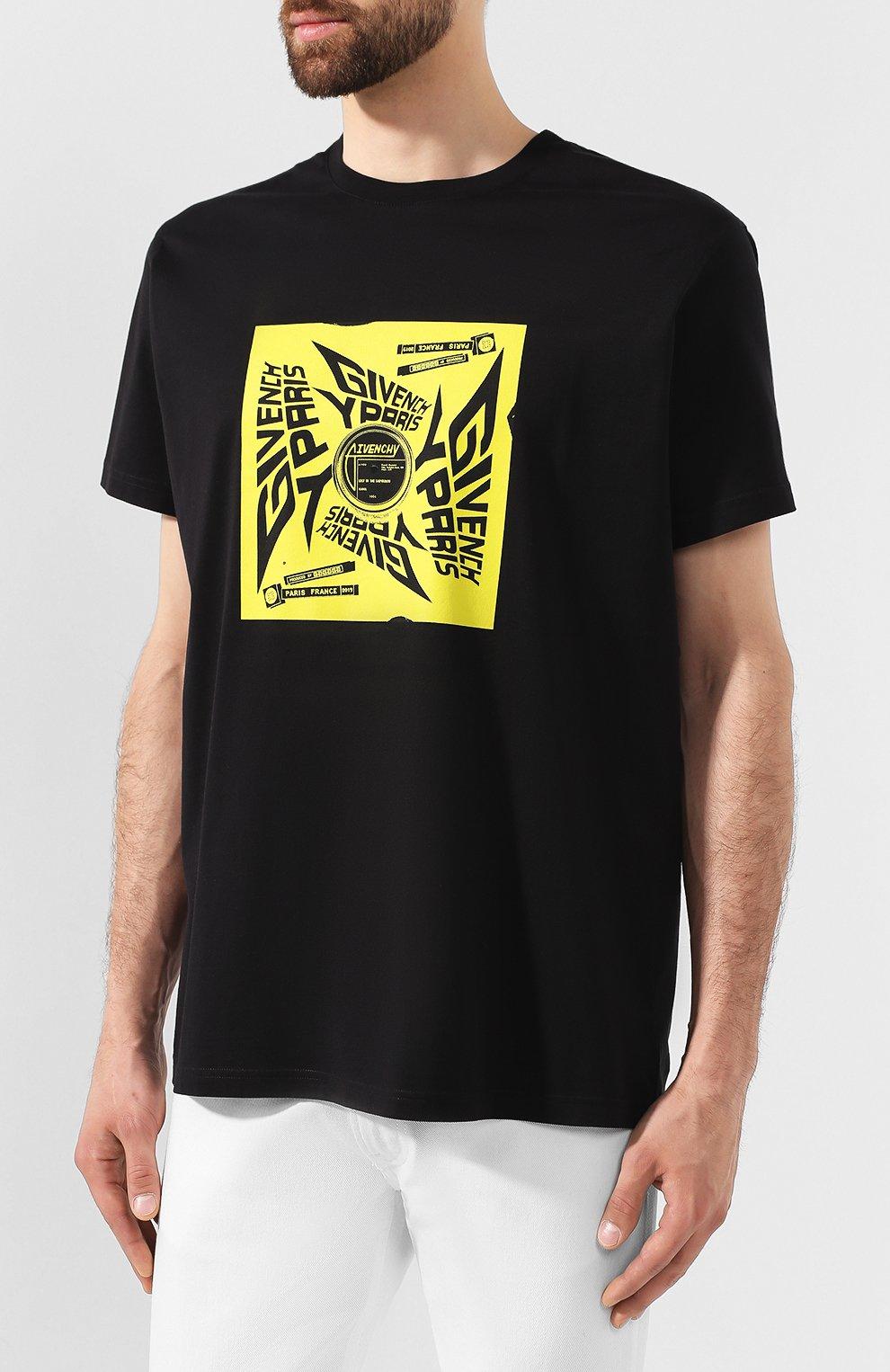 Хлопковая футболка Givenchy черная | Фото №3