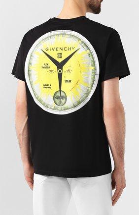 Хлопковая футболка Givenchy черная | Фото №4