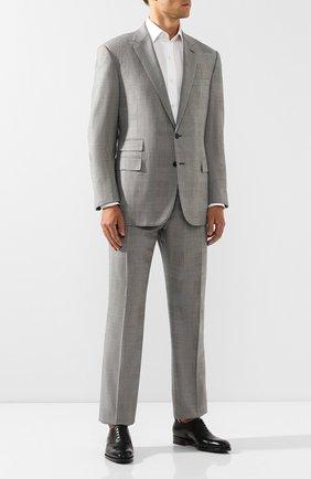 Мужские кожаные оксфорды SANTONI черного цвета, арт. MCCR12474JJ2I0BRN01 | Фото 2