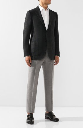 Мужские кожаные монки SANTONI темно-зеленого цвета, арт. MCCR11652MC1HVVDW60 | Фото 2