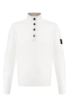 Мужской шерстяной свитер STONE ISLAND белого цвета, арт. 7115532A3 | Фото 1