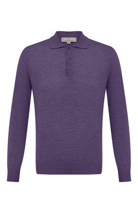 Мужское шерстяное поло CANALI фиолетового цвета, арт. C0017/MK00077   Фото 1