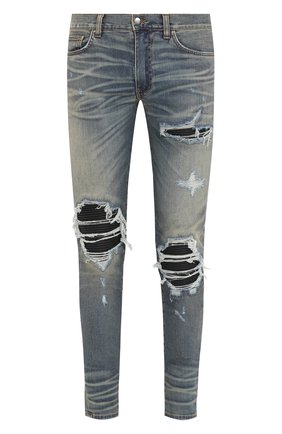 Мужские джинсы AMIRI голубого цвета, арт. MBMX1-LTH | Фото 1