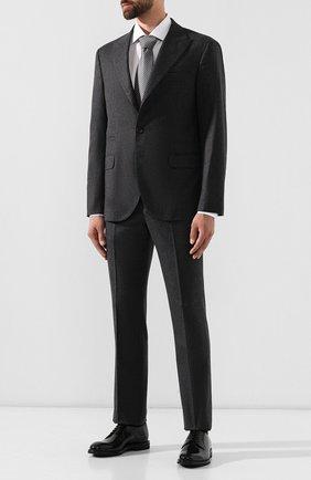 Мужские кожаные дерби BRUNELLO CUCINELLI черного цвета, арт. MZUCMGF908   Фото 2