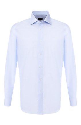 Мужская хлопковая сорочка ERMENEGILDO ZEGNA голубого цвета, арт. 601212/9RS0BR | Фото 1