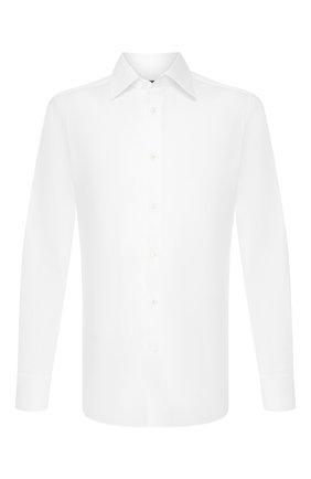 Мужская хлопковая сорочка ERMENEGILDO ZEGNA белого цвета, арт. 604004/9MS0PA | Фото 1