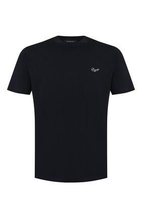 Мужская хлопковая футболка ERMENEGILDO ZEGNA темно-синего цвета, арт. UT526/706R | Фото 1