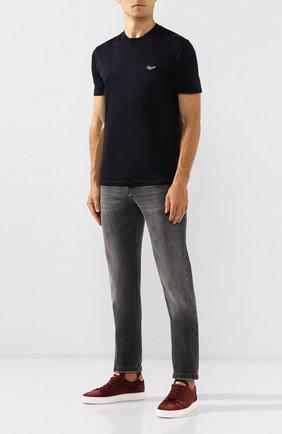 Мужская хлопковая футболка ERMENEGILDO ZEGNA темно-синего цвета, арт. UT526/706R | Фото 2