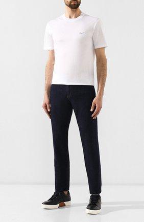 Мужская хлопковая футболка ERMENEGILDO ZEGNA белого цвета, арт. UT526/706R | Фото 2