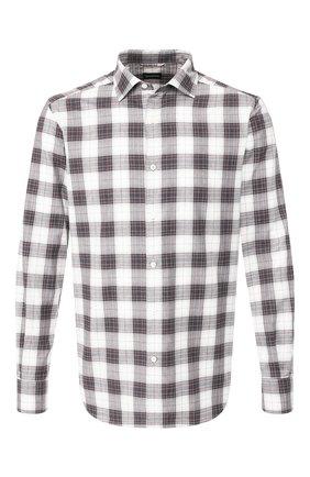 Мужская хлопковая рубашка ERMENEGILDO ZEGNA серого цвета, арт. UTX33/SRF5 | Фото 1