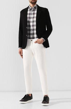 Мужская хлопковая рубашка ERMENEGILDO ZEGNA серого цвета, арт. UTX33/SRF5 | Фото 2