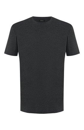 Мужская хлопковая футболка Z ZEGNA серого цвета, арт. VT372/ZZ650   Фото 1
