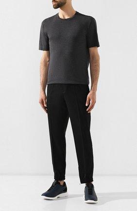 Мужская хлопковая футболка Z ZEGNA серого цвета, арт. VT372/ZZ650   Фото 2