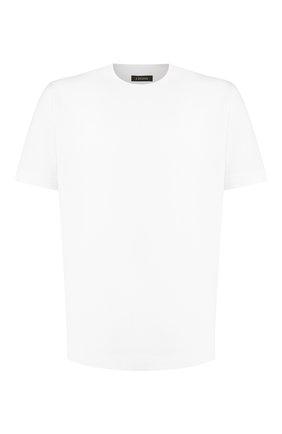 Мужская хлопковая футболка Z ZEGNA белого цвета, арт. VT372/ZZ650   Фото 1