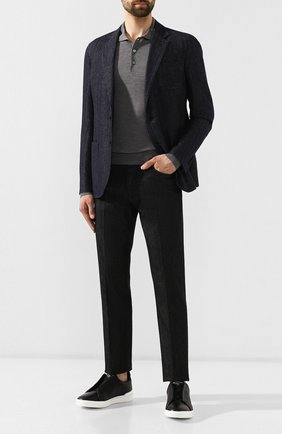 Мужские джинсы Z ZEGNA черного цвета, арт. VT721/ZZ507 | Фото 2