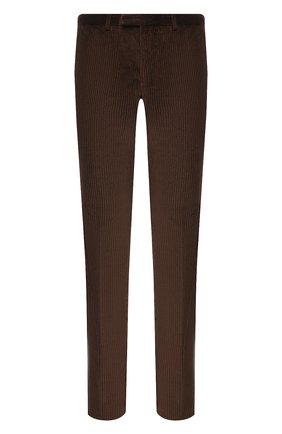 Мужской хлопковые брюки Z ZEGNA коричневого цвета, арт. 6ZF082/7ASAC2 | Фото 1