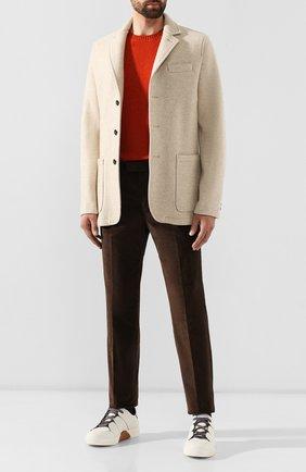 Мужской хлопковые брюки Z ZEGNA коричневого цвета, арт. 6ZF082/7ASAC2 | Фото 2