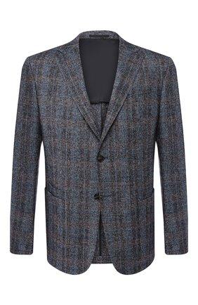 Мужской шерстяной пиджак Z ZEGNA синего цвета, арт. 642714/1VRUG0 | Фото 1