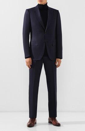 Мужской шерстяной костюм ZEGNA COUTURE темно-синего цвета, арт. 622N13/21L2N5 | Фото 1