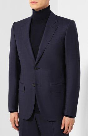 Мужской шерстяной костюм ZEGNA COUTURE темно-синего цвета, арт. 622N13/21L2N5 | Фото 2