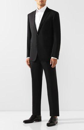 Мужской шерстяной костюм ERMENEGILDO ZEGNA черного цвета, арт. 622564/221225 | Фото 1