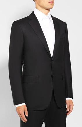 Мужской шерстяной костюм ERMENEGILDO ZEGNA черного цвета, арт. 622564/221225 | Фото 2