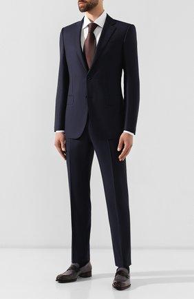 Мужской шерстяной костюм ERMENEGILDO ZEGNA темно-синего цвета, арт. 622021/221225 | Фото 1