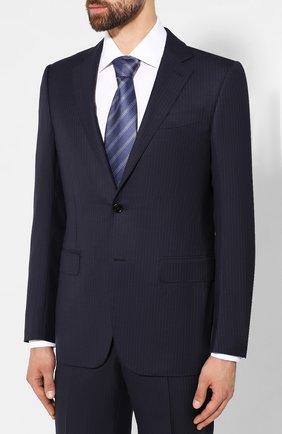 Мужской шерстяной костюм ERMENEGILDO ZEGNA темно-синего цвета, арт. 616541/221225 | Фото 2