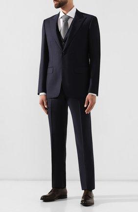 Мужской шерстяной костюм-тройка ERMENEGILDO ZEGNA темно-синего цвета, арт. 616508/327B25 | Фото 1