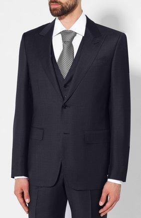 Мужской шерстяной костюм-тройка ERMENEGILDO ZEGNA темно-синего цвета, арт. 616508/327B25 | Фото 2