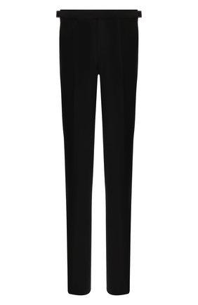 Мужской шерстяные брюки ERMENEGILDO ZEGNA черного цвета, арт. 612F05/75F812 | Фото 1