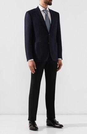 Мужские шерстяные брюки ERMENEGILDO ZEGNA черного цвета, арт. 612F05/75F812 | Фото 2 (Материал подклада: Вискоза; Материал внешний: Шерсть; Статус проверки: Проверено; Длина (брюки, джинсы): Стандартные; Случай: Формальный; Стили: Классический)