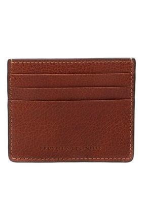 Мужской кожаный футляр для кредитных карт BRUNELLO CUCINELLI коричневого цвета, арт. MWZIU335 | Фото 1