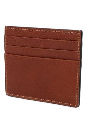 Мужской кожаный футляр для кредитных карт BRUNELLO CUCINELLI коричневого цвета, арт. MWZIU335 | Фото 2