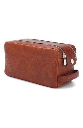 Мужской кожаный несессер BRUNELLO CUCINELLI коричневого цвета, арт. MWIMU334 | Фото 2