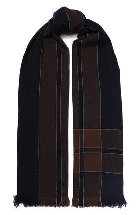 Мужской кашемировый шарф BRUNELLO CUCINELLI темно-синего цвета, арт. MSC629AV | Фото 1