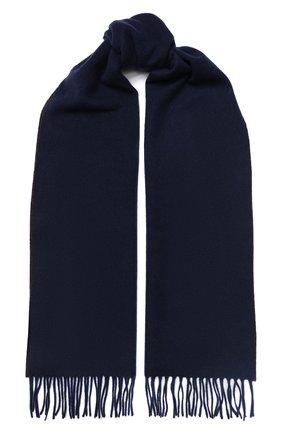 Мужской кашемировый шарф BRUNELLO CUCINELLI темно-синего цвета, арт. MSC617AG | Фото 1