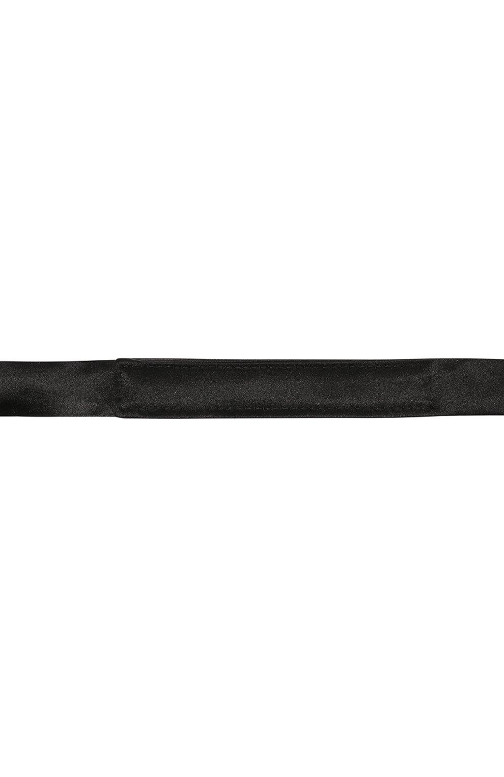Мужской галстук-бабочка из хлопка и шелка BRUNELLO CUCINELLI черного цвета, арт. MR8130003 | Фото 3