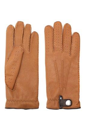 Мужские кожаные перчатки BRUNELLO CUCINELLI светло-коричневого цвета, арт. MPMGN3608 | Фото 2