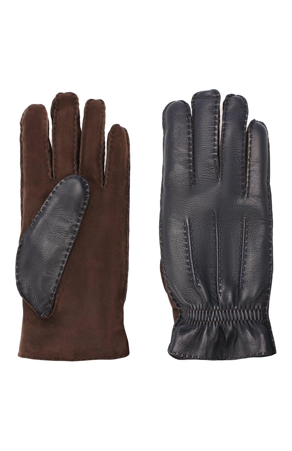 Кожаные перчатки с кашемировой подкладкой | Фото №2