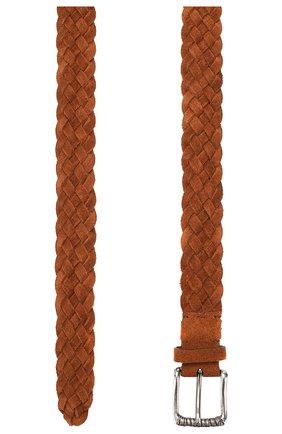 Мужской кожаный ремень BRUNELLO CUCINELLI коричневого цвета, арт. MAUGT338 | Фото 2