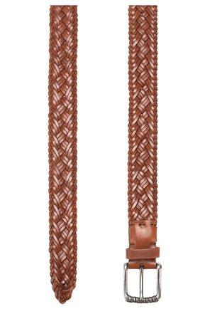 Мужской кожаный ремень BRUNELLO CUCINELLI коричневого цвета, арт. MAUEY338 | Фото 2