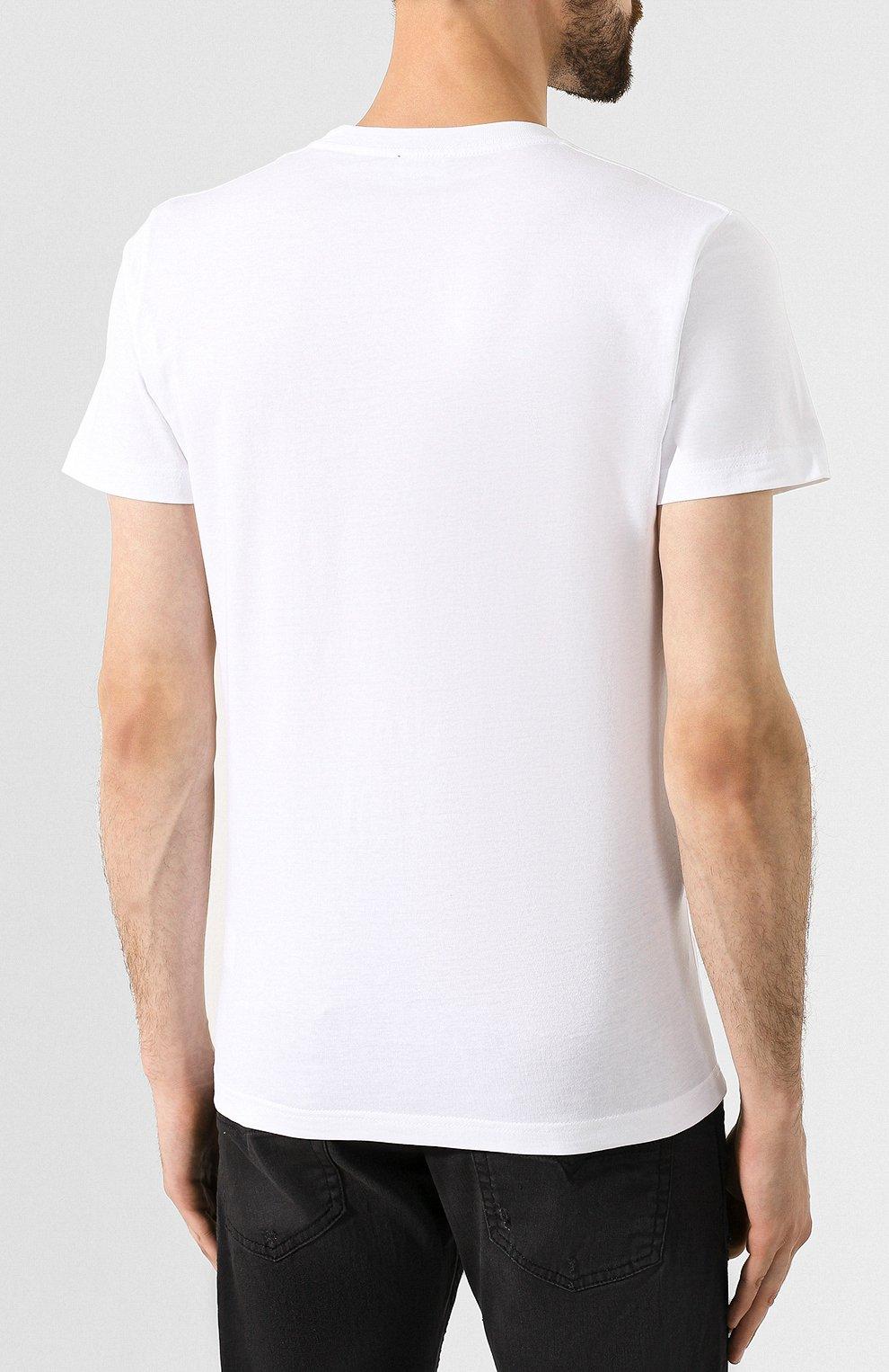 Хлопковая футболка Diesel белая   Фото №4