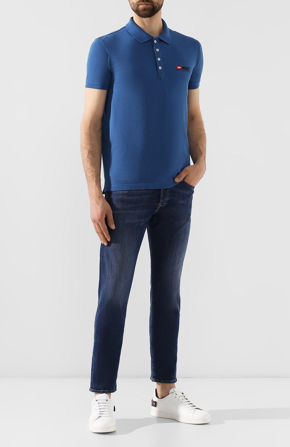 Мужские джинсы DIESEL синего цвета, арт. 00SDHB/082AZ | Фото 2