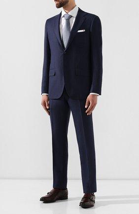 Мужские кожаные монки KITON бордового цвета, арт. USSDEEPN00101 | Фото 2