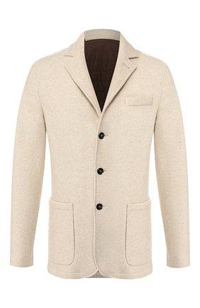 Мужской кашемировый пиджак KITON бежевого цвета, арт. UW0606V03S09 | Фото 1